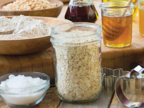 oil, oats, honey, nuts