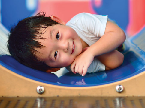 boy playing on the playground