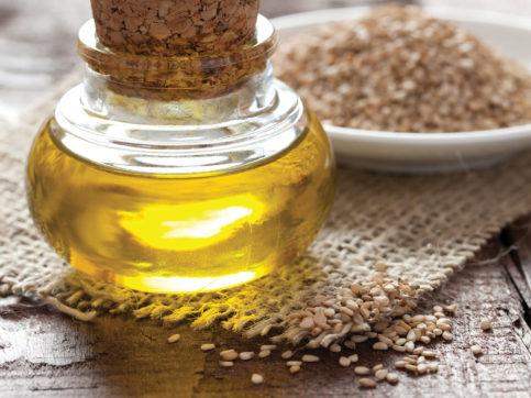 oil in a glass jar